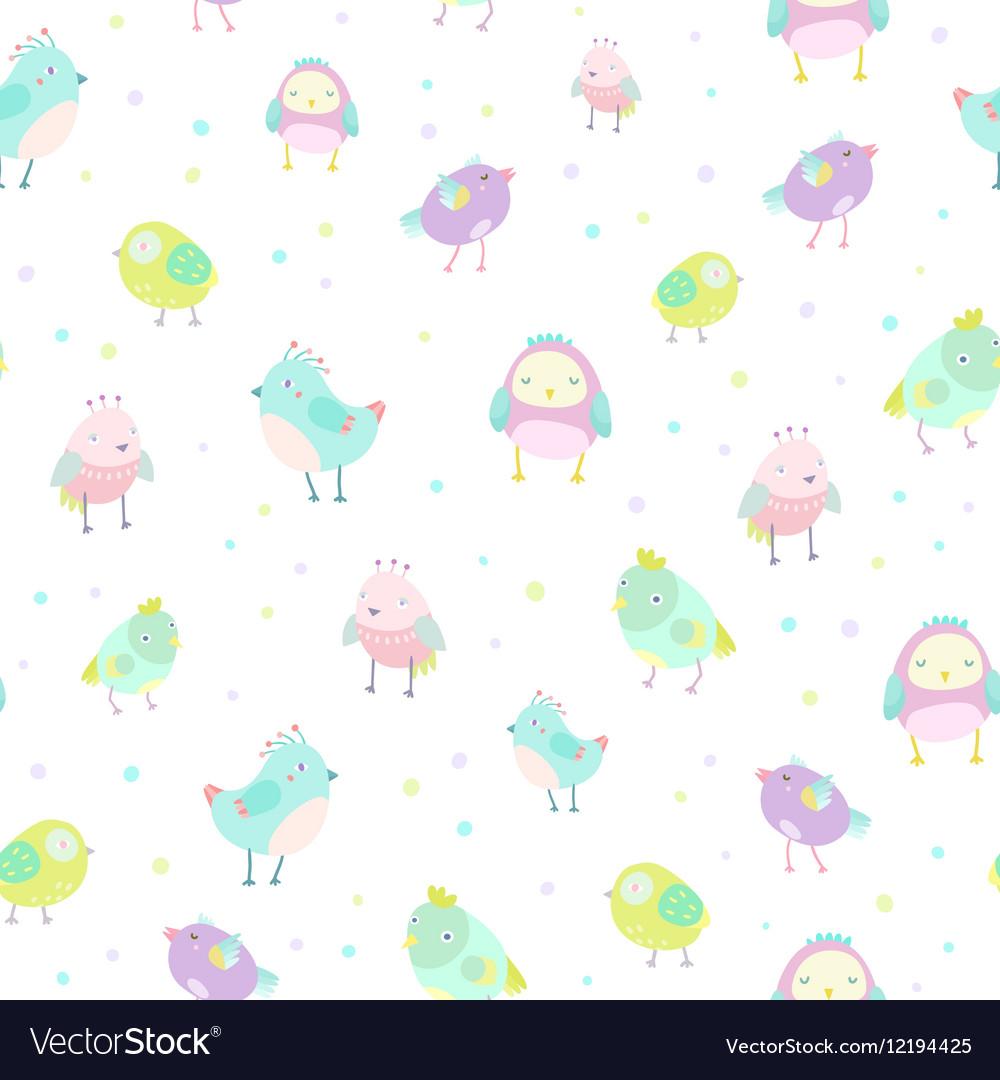 Cute birds pattern