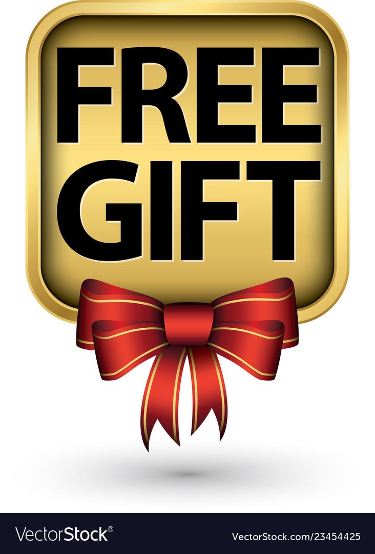 Free gift golden label