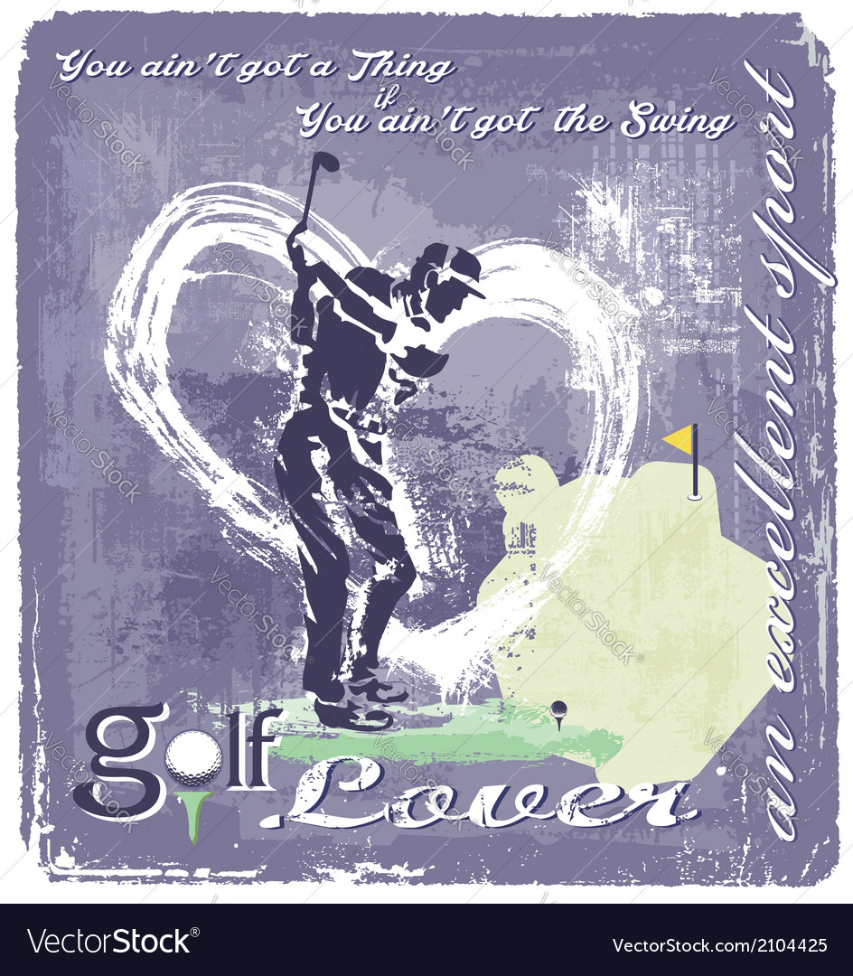 Golf Swing vector image