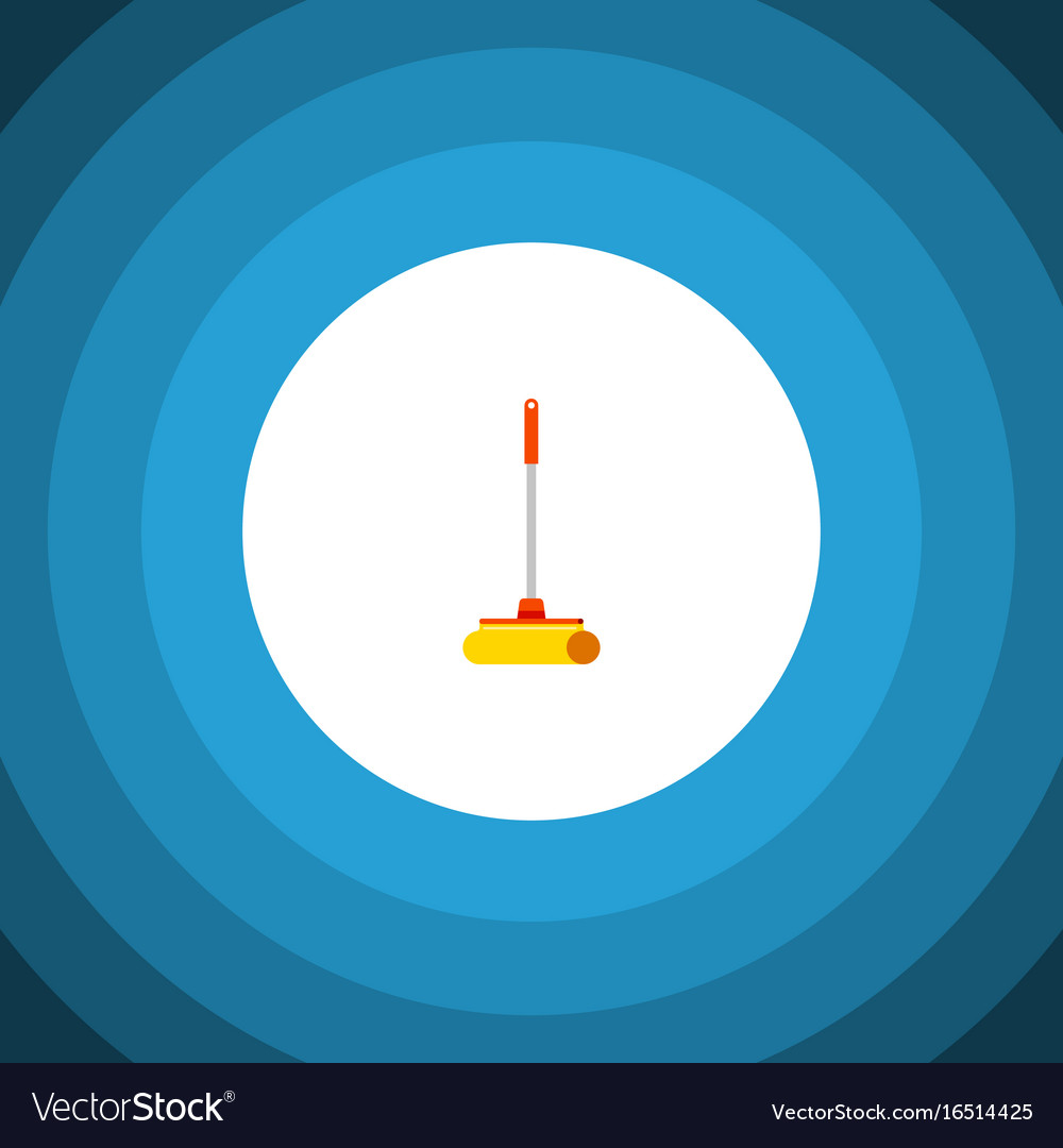 Isolated sweep flat icon cleaner element