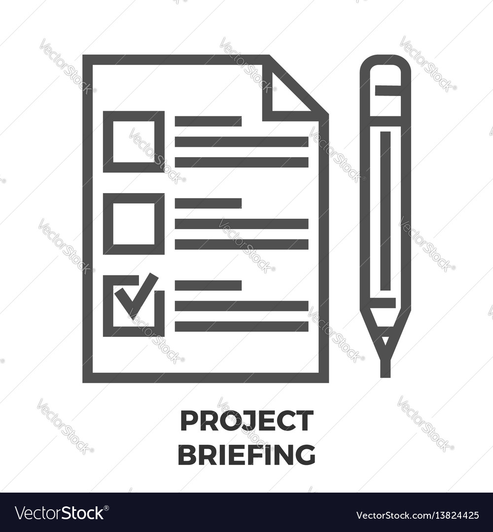 Project briefing line icon