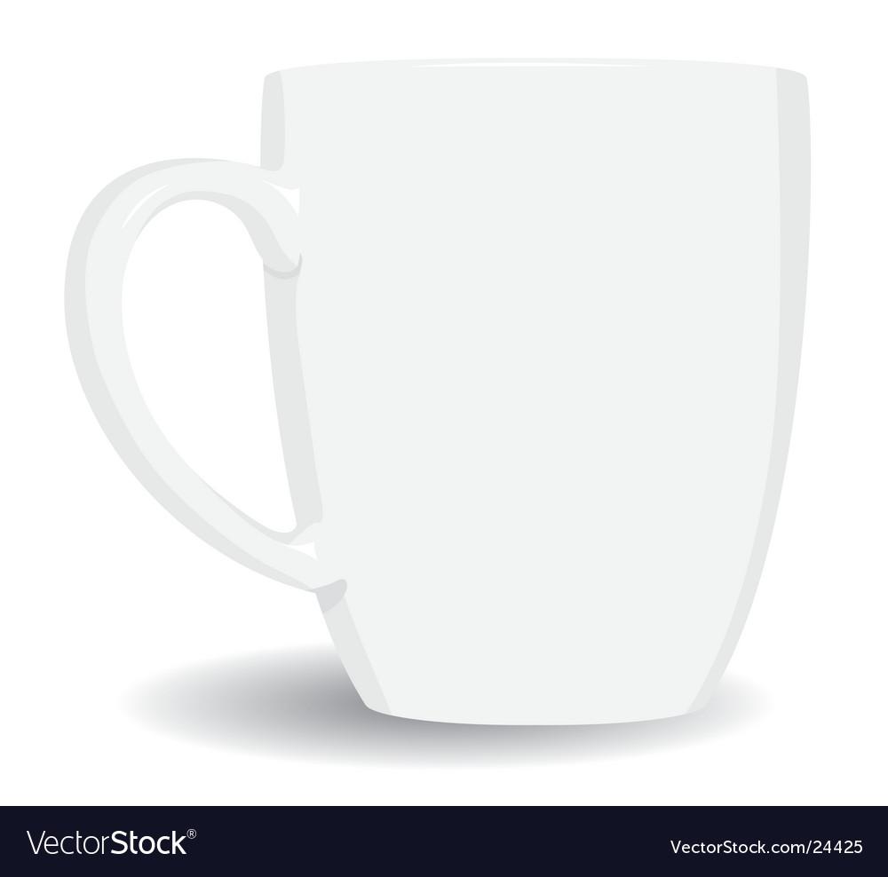 White mug on white background vector image