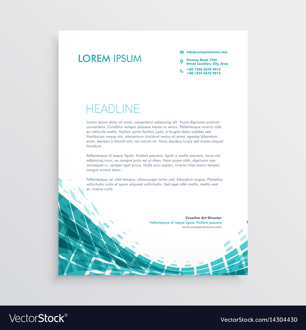 Creative letterhead design template with abstract vector image