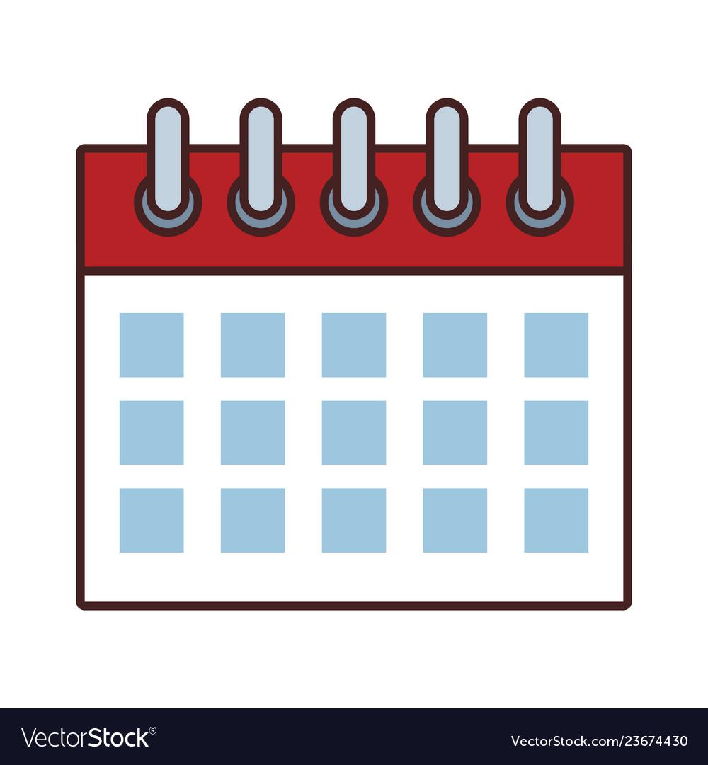 date calendar cartoon royalty free vector image vectorstock