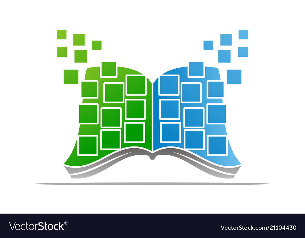Digital Book Logo Design Template