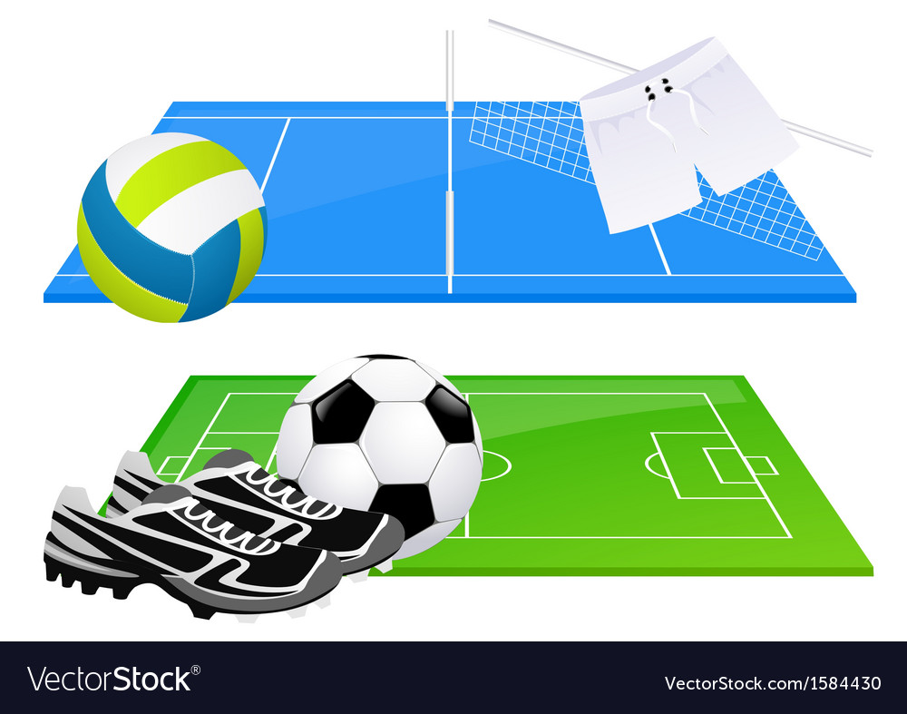 Football and volleyball backgrounds