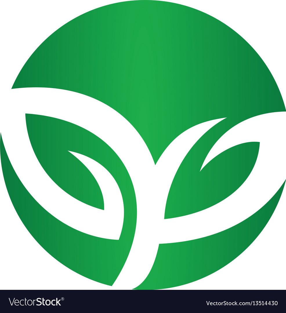 Logos of green leaf ecology