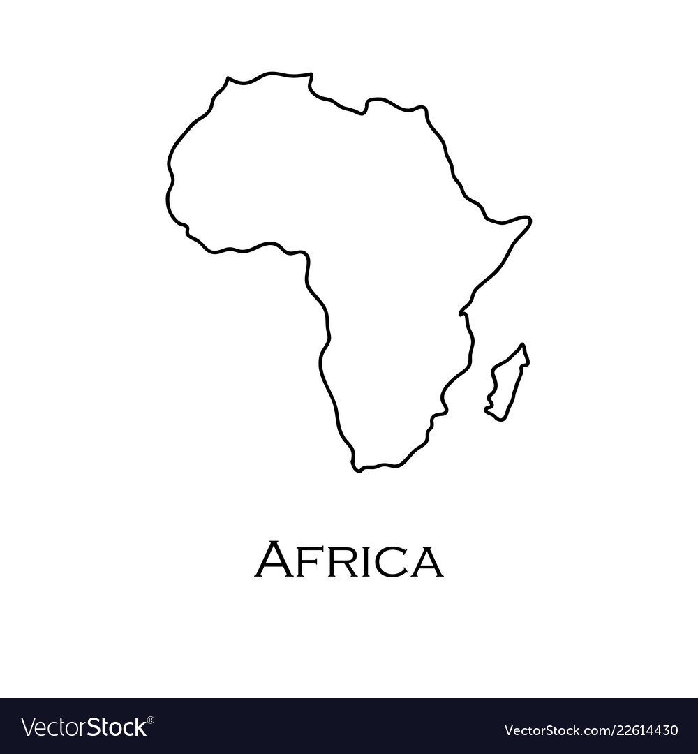 Africa Map White Map africa white on a white background Royalty Free Vector