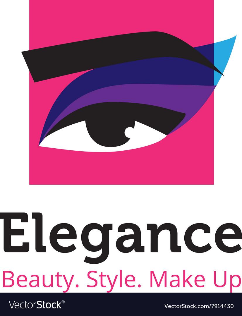 Minimalistic beauty studio logo in blue and