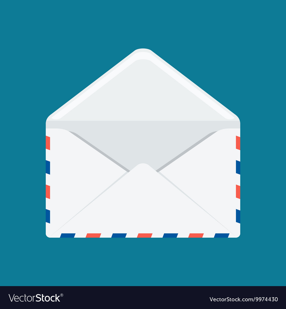 White envelope image vector image