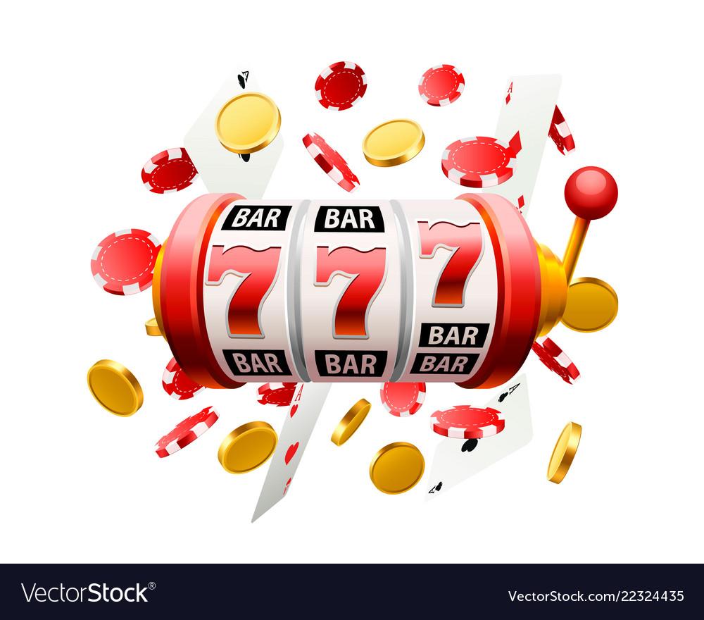 Big win slots 777 banner casino background