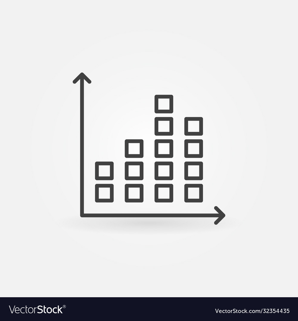 Chart outline concept icon