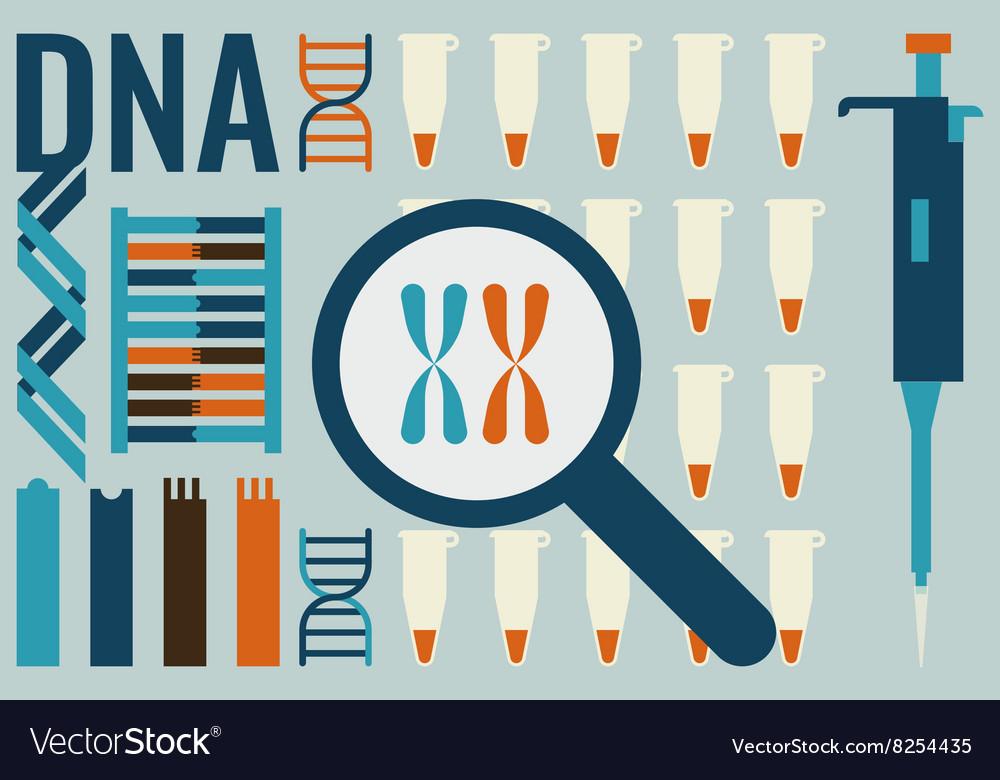 Molecular biology laboratory concept