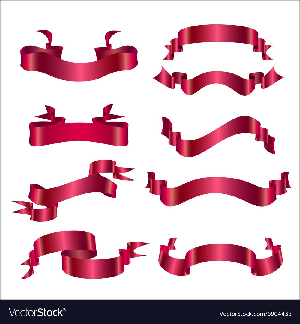 Set ribbon red