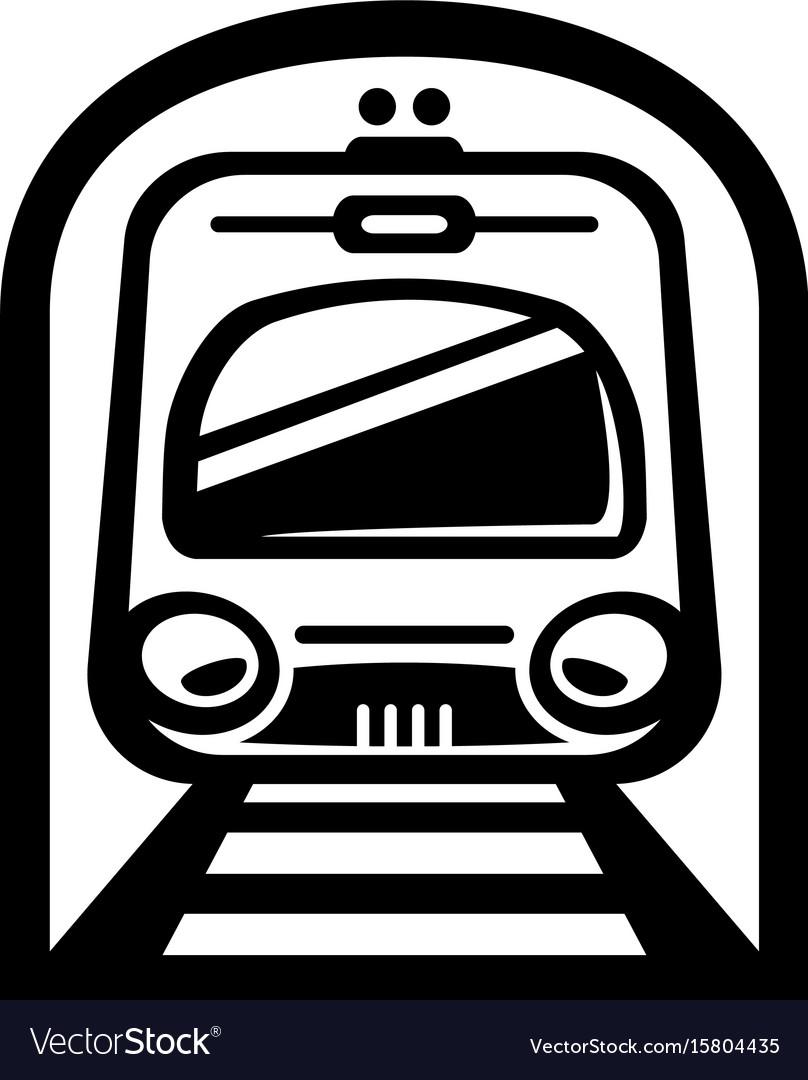 Subway train light rail car icon