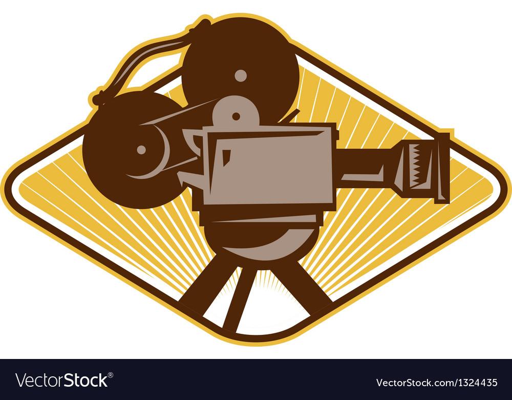Camera Vintage Vector Free : Vintage movie film camera retro royalty free vector image