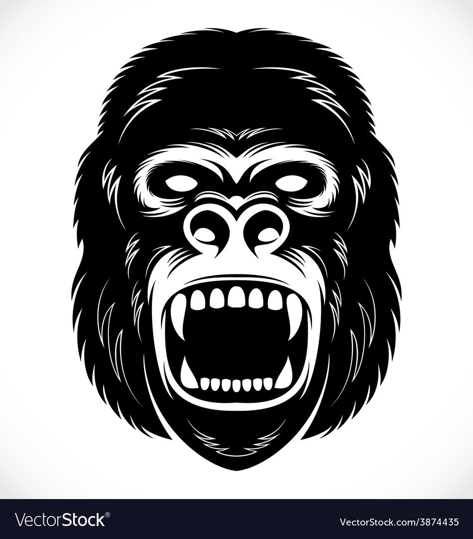 Wild Gorilla Head