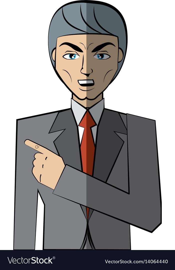 Cartoon man character concept