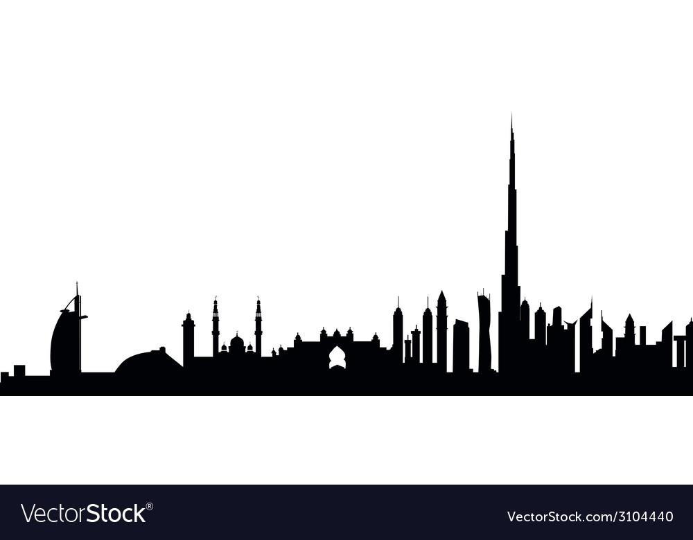 dubai skyline royalty free vector image vectorstock rh vectorstock com skyline victory manufactured home skyline victory manufactured home