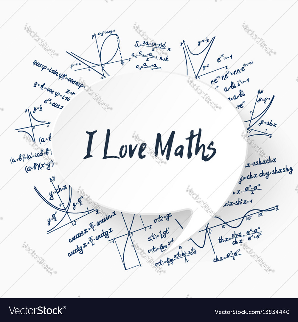 i love maths background royalty free vector image