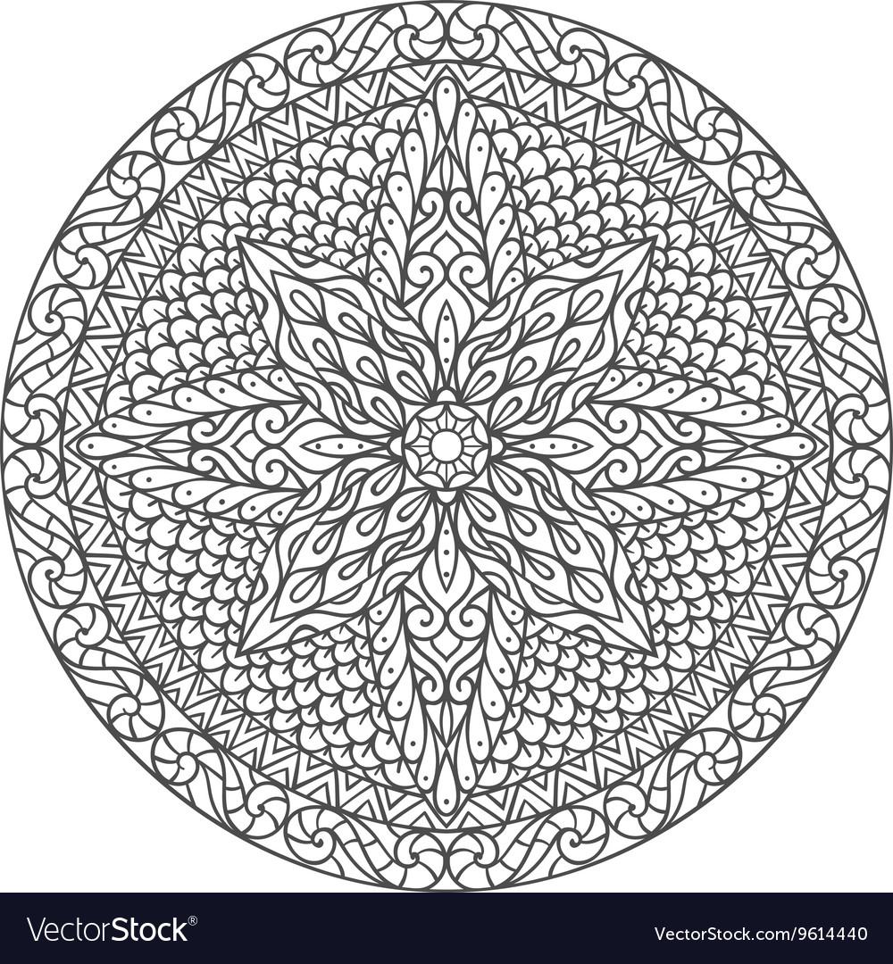 Mandala Decorative ornament element pattern Hand