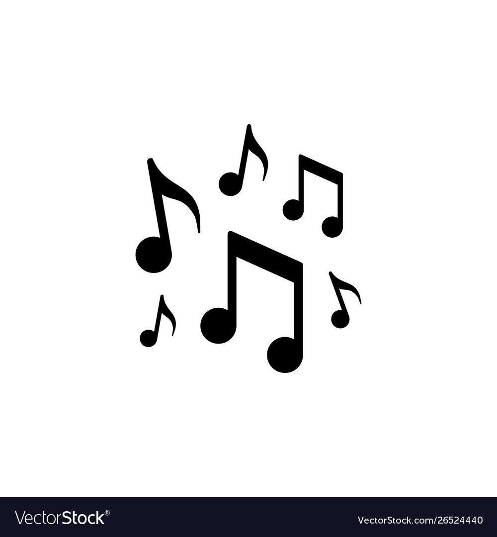 Music notes icon and concept
