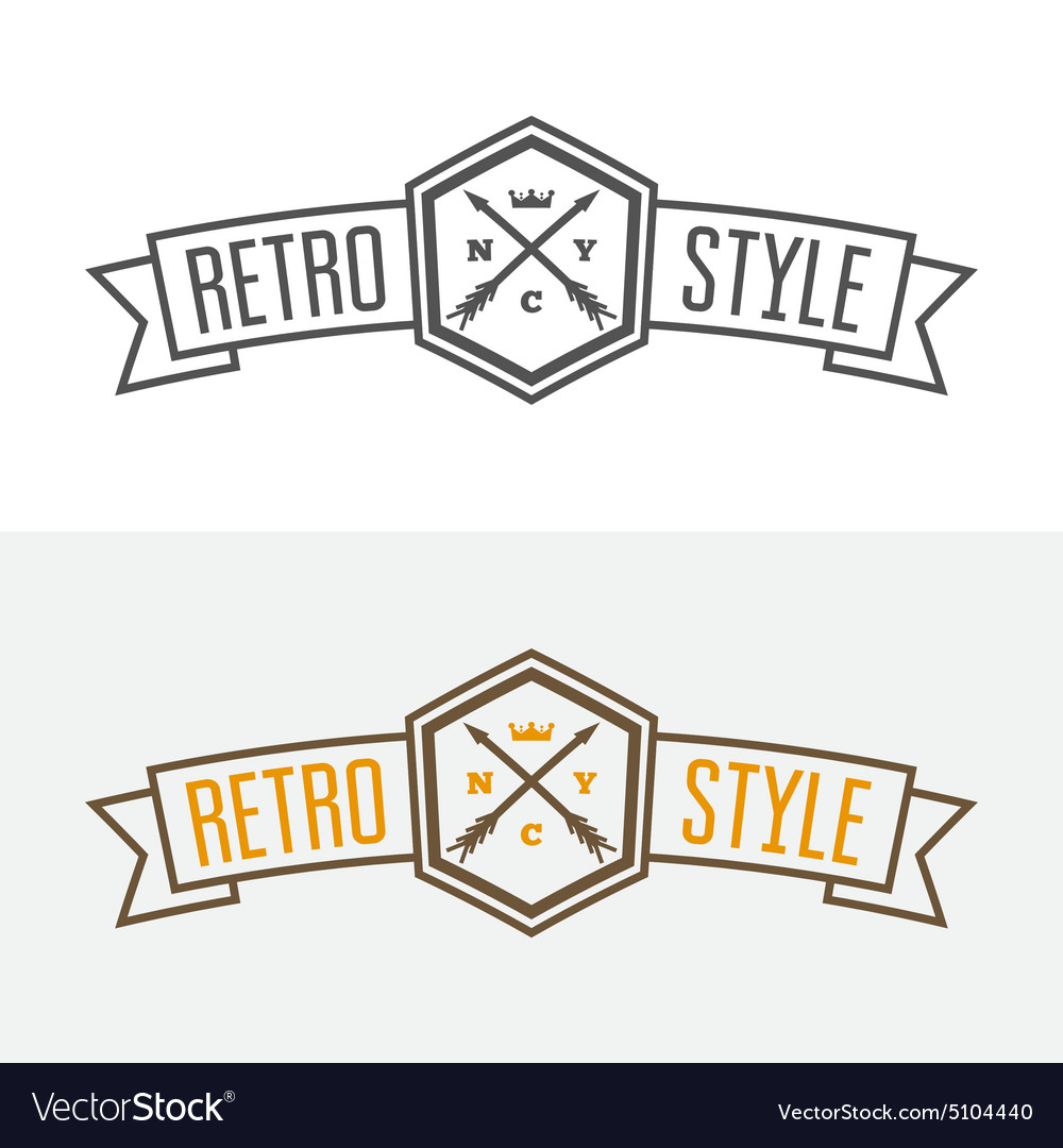 Retro Vintage Insignia or Logotype design