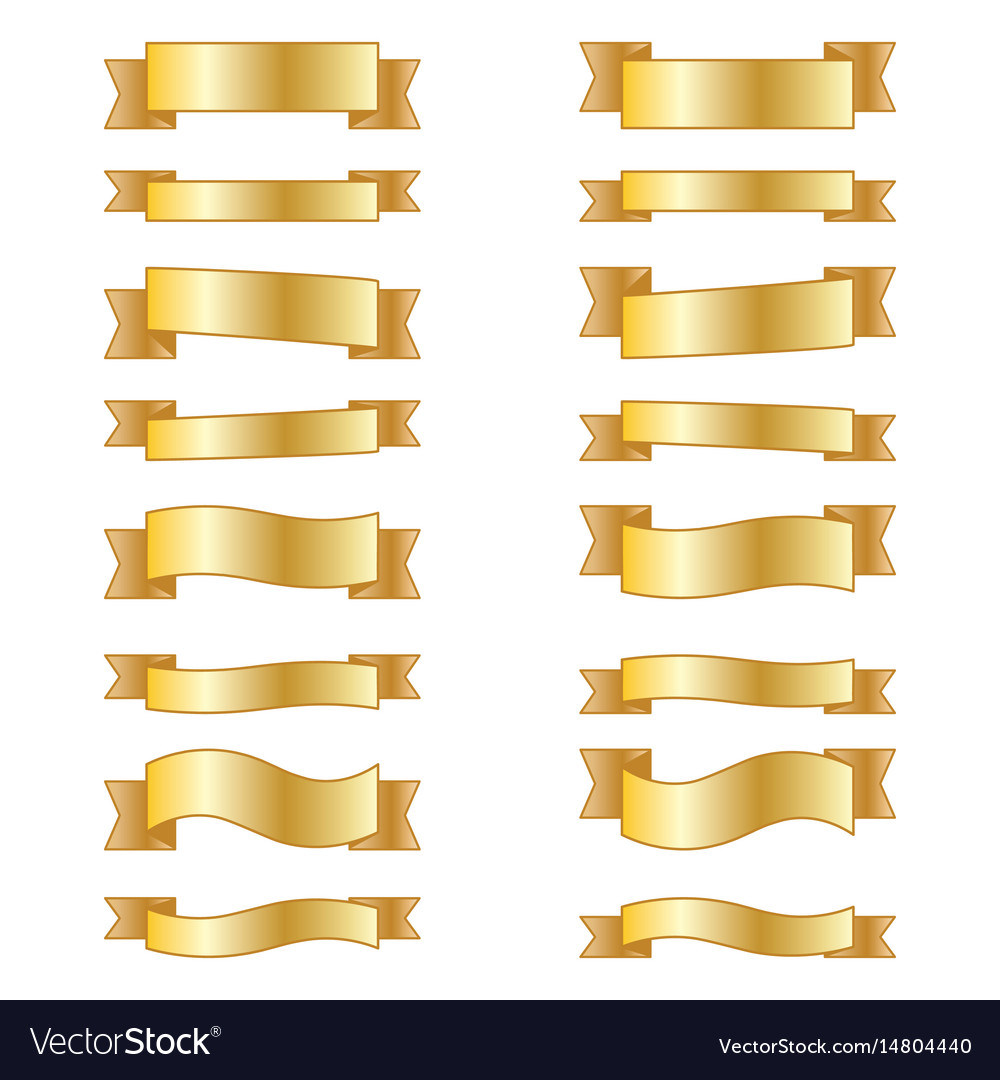 Set of design elements banners ribbons