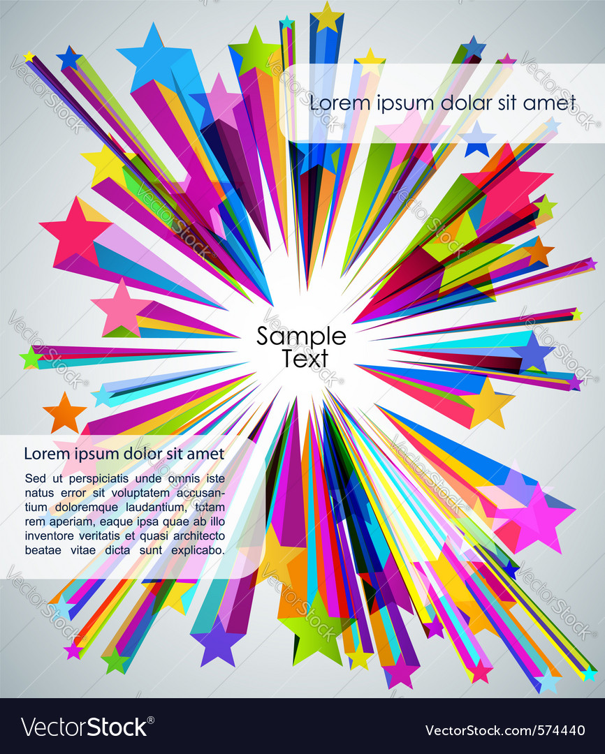 Strars background vector image