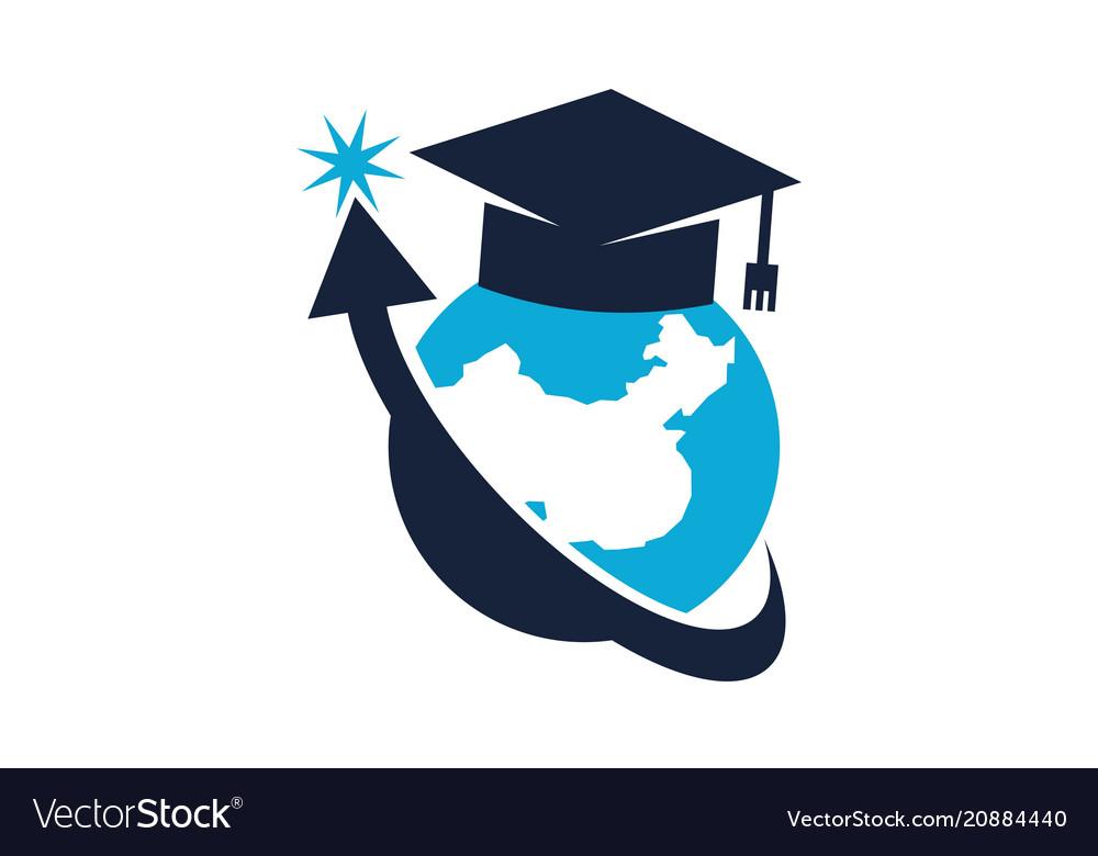 World education logo design template