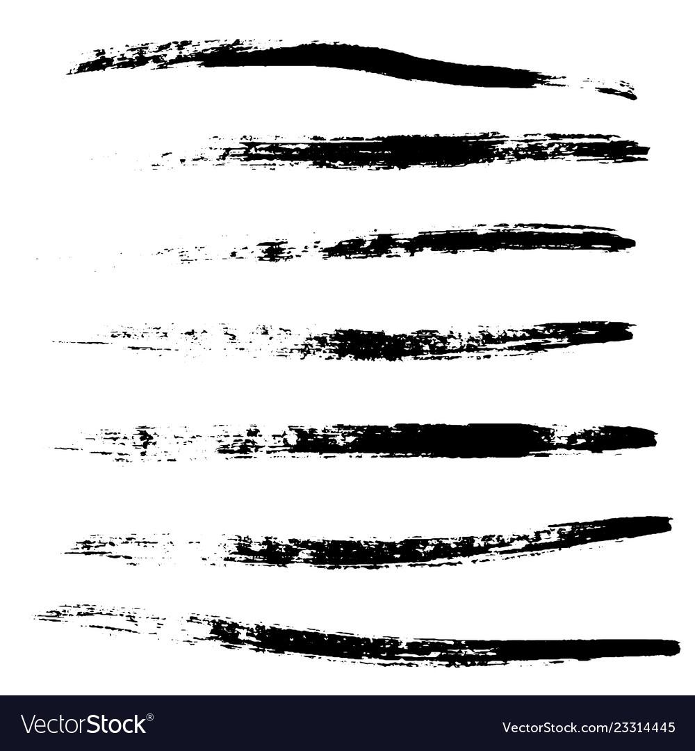A selection of brushes black grunge brush