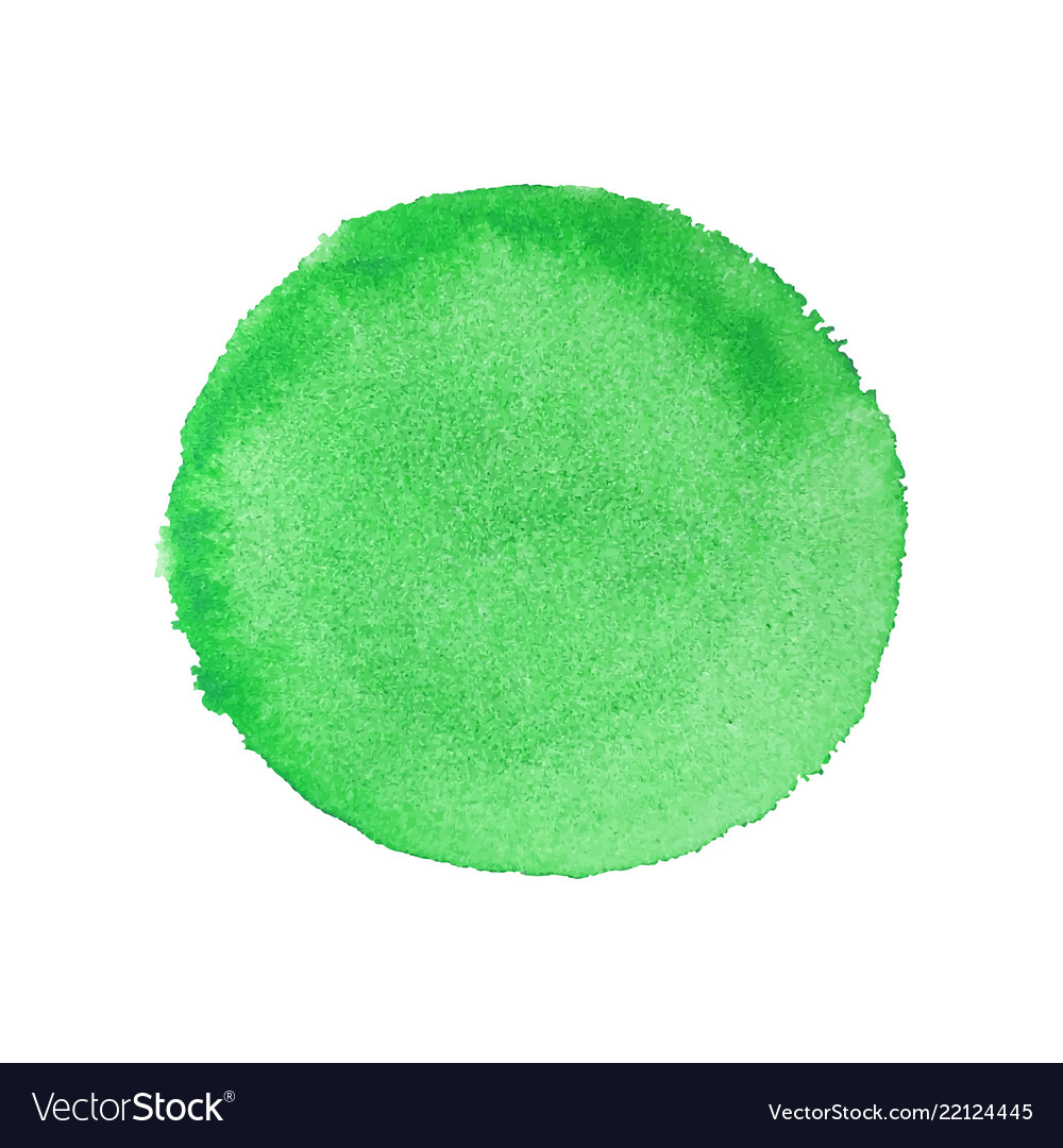 Abstract watercolor green round background