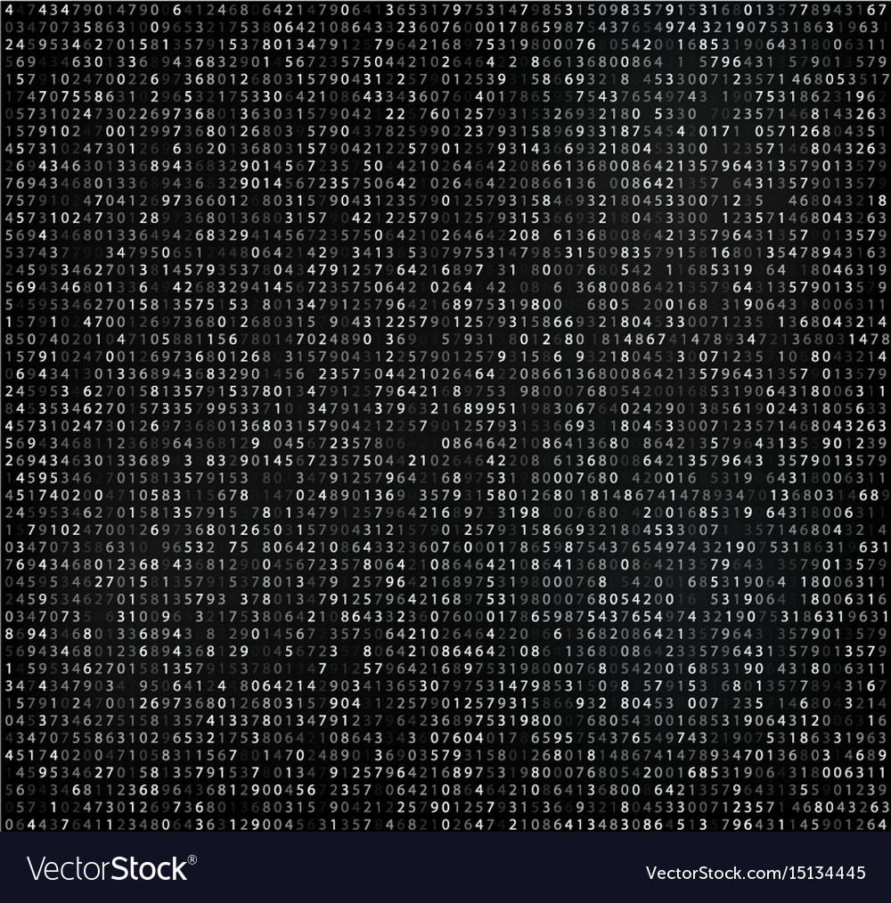 Black matrix background with digits