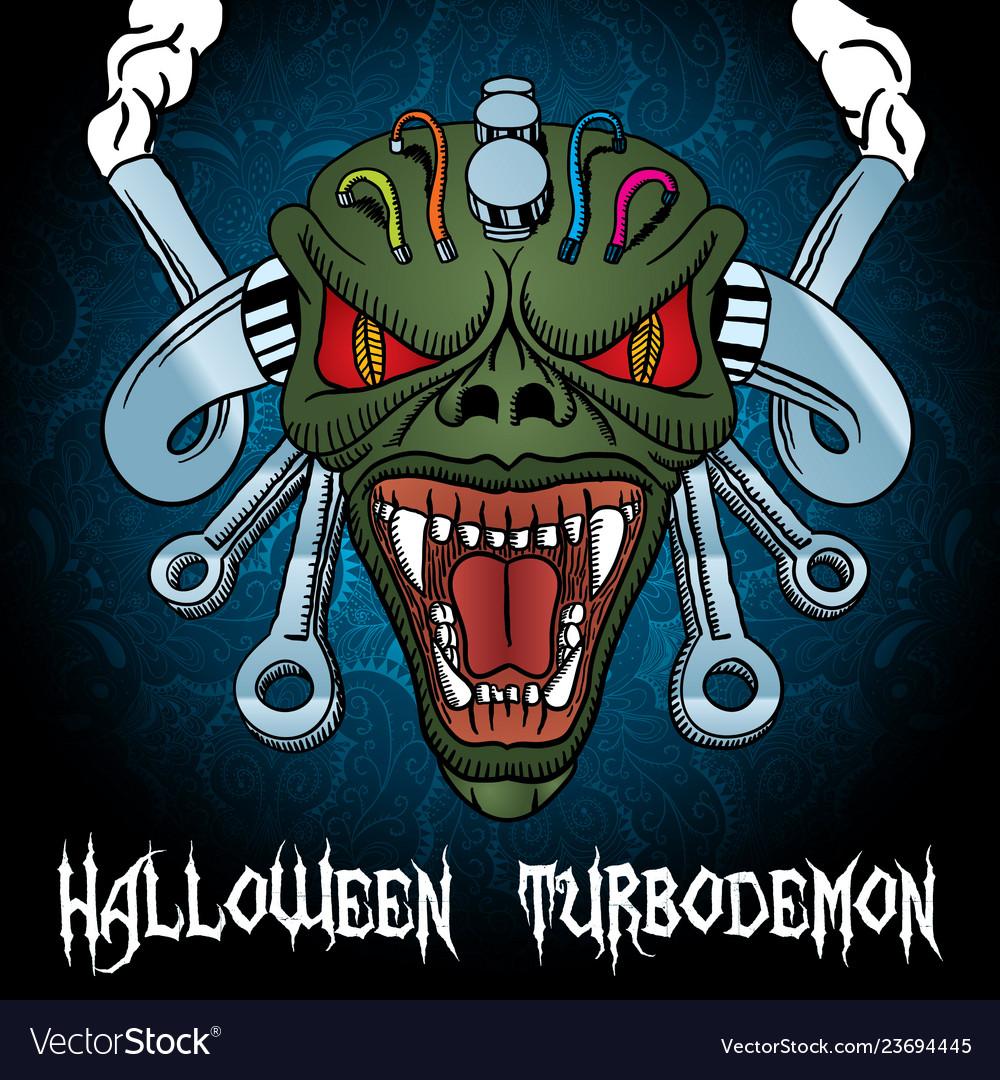 Colorful halloween turbodemon poster