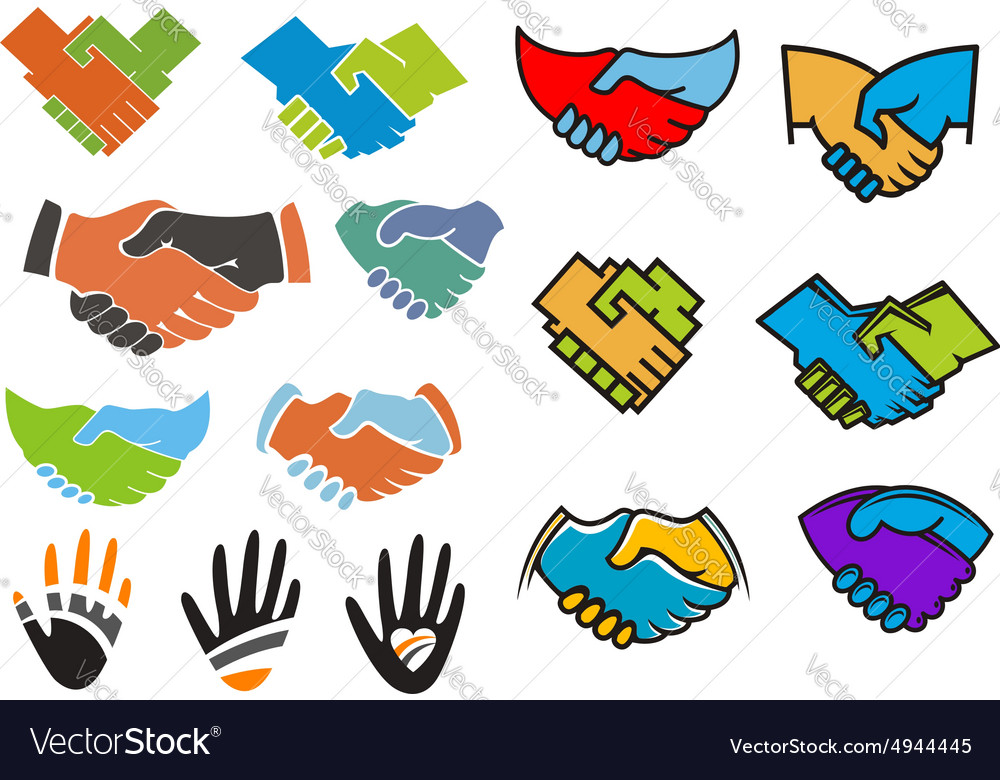 Colorful partnership and friendship symbols