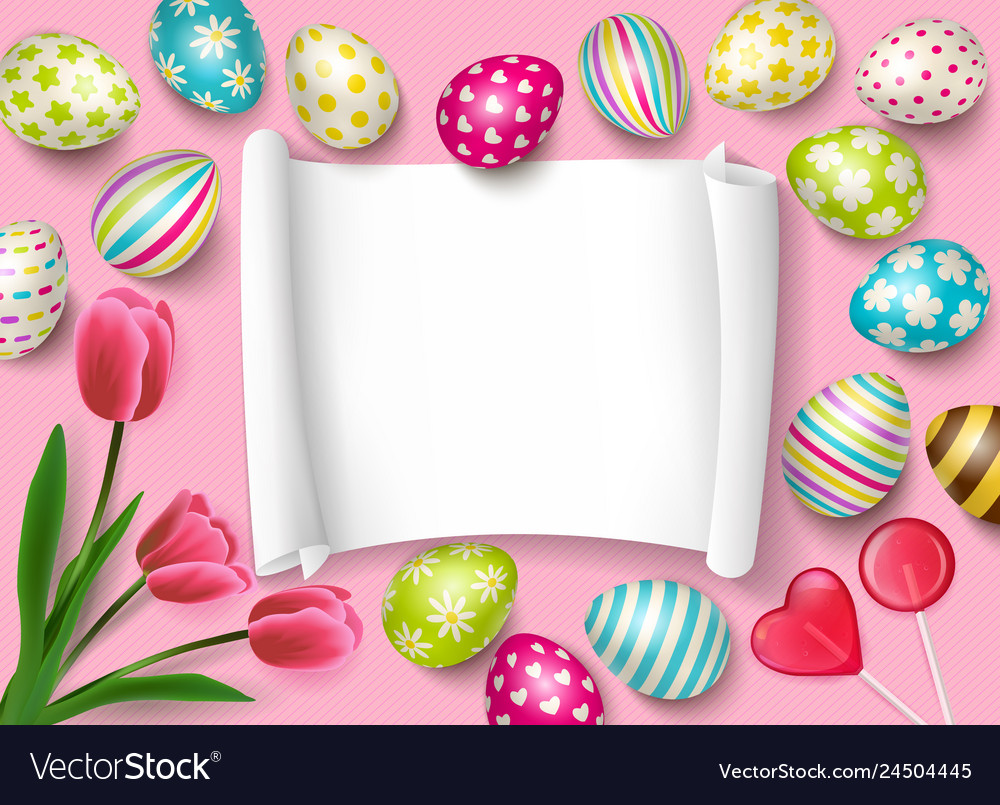 Easter congrats frame composition