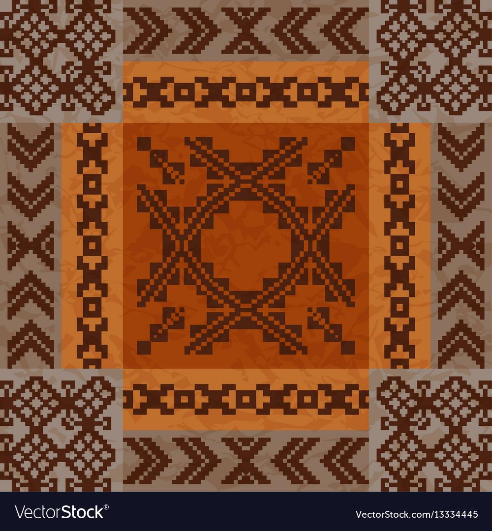 Ethnic ornament carpet design