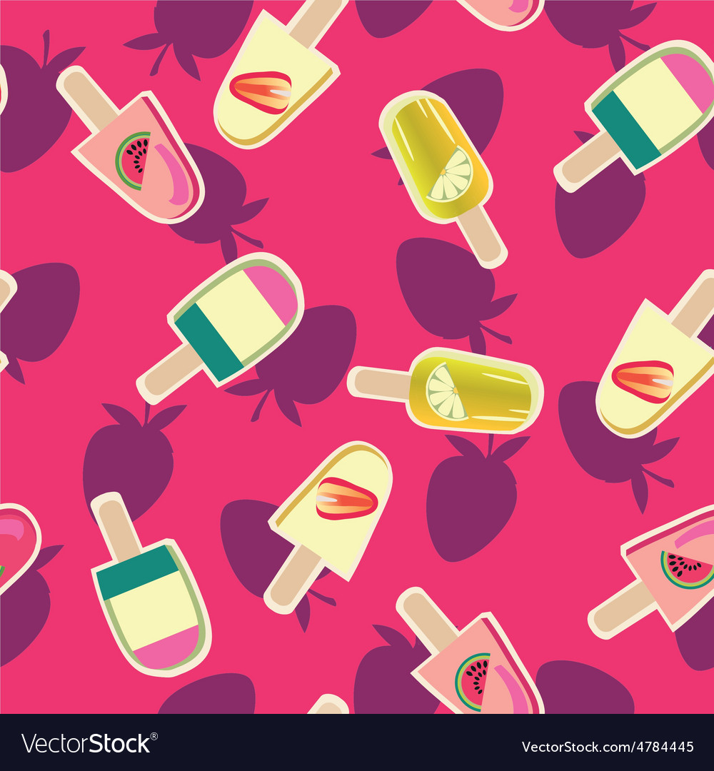 Fruit ice-creams pattern
