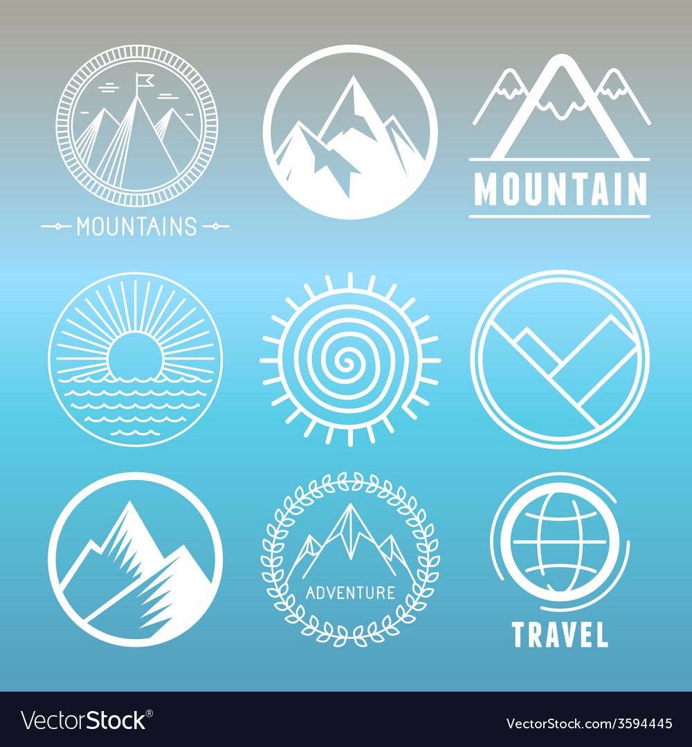 Mountain logos and emblems