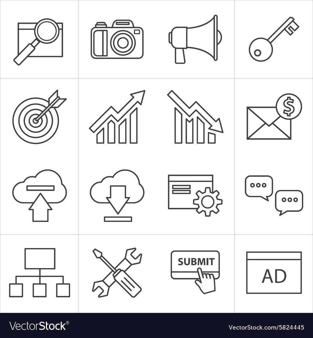 Seo thin line icon vector image