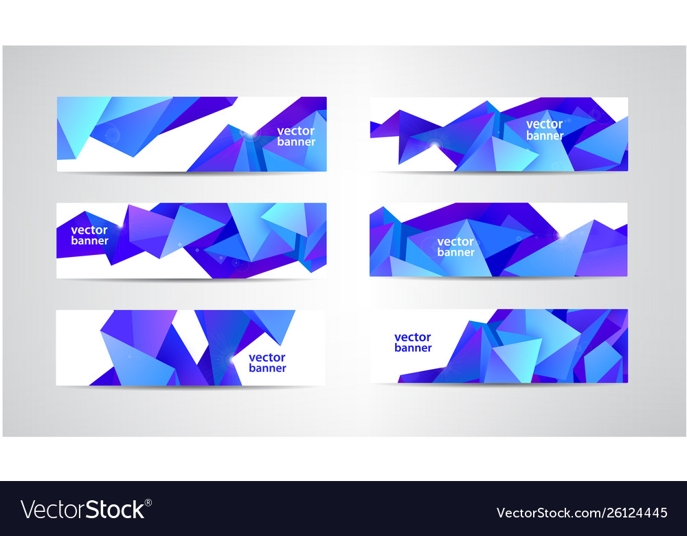 Set banners with polygonal geometric