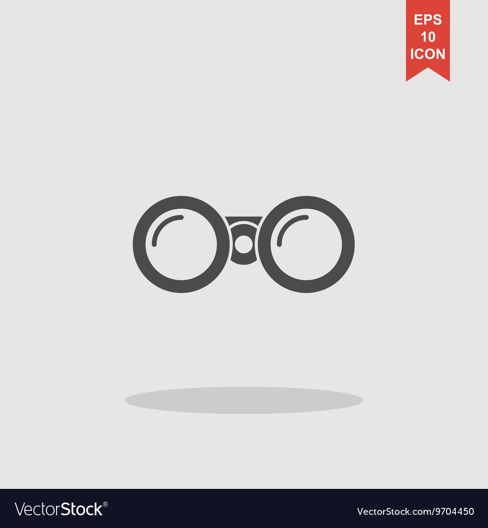 Binocular icon Flat design style