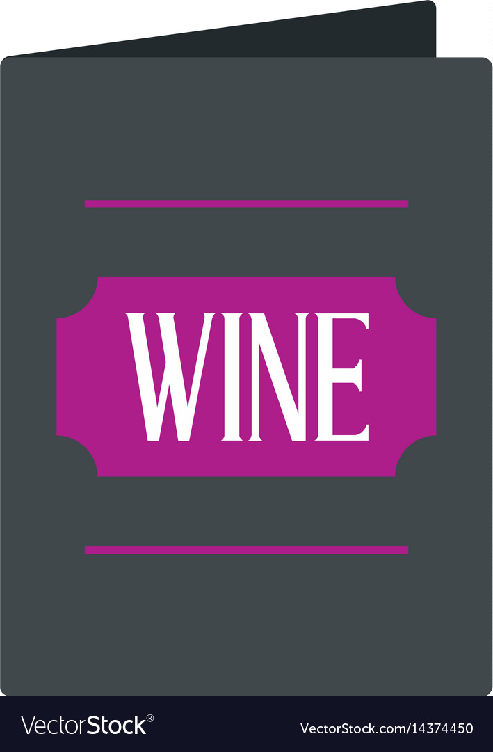 Black wine card icon isolated