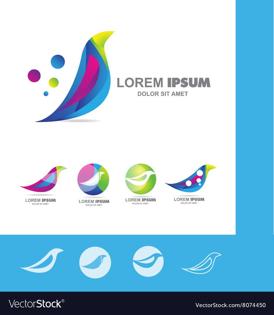 Colored bird logo