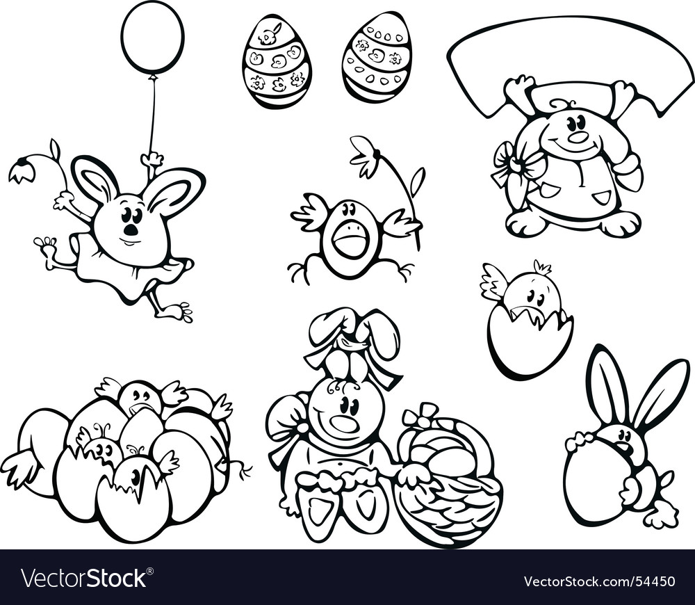 Easter chickens and rabbits