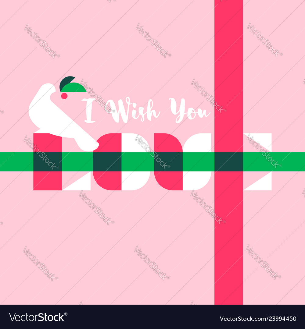 Greeting card with i wish you love lettering