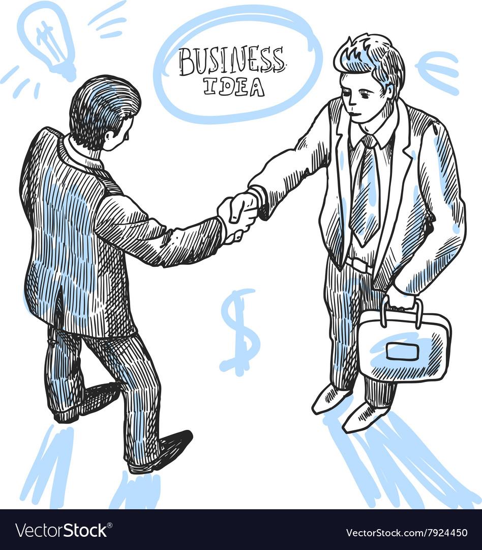 Handshake of 2 peoples
