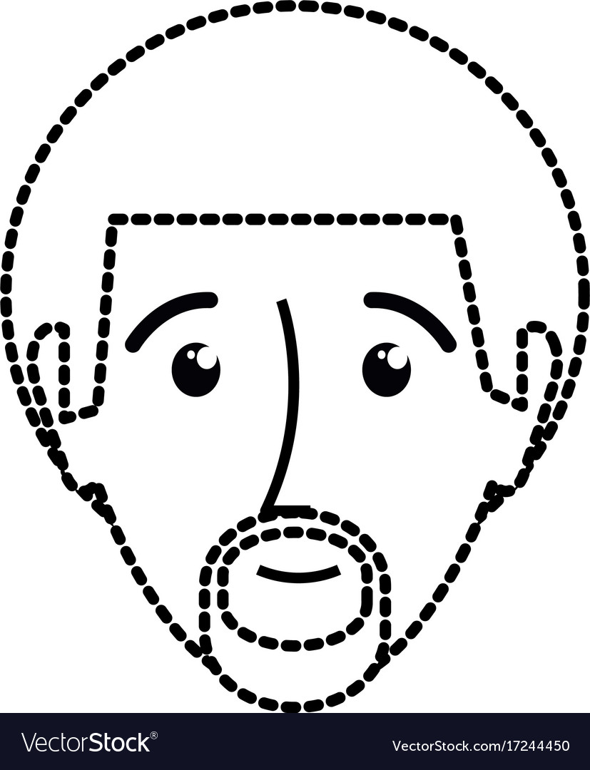 Man sticker vector image