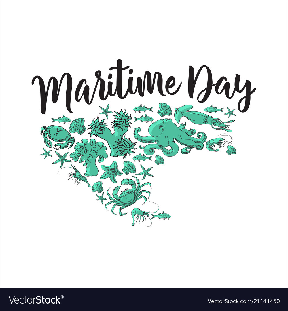 Maritime day sea animals images