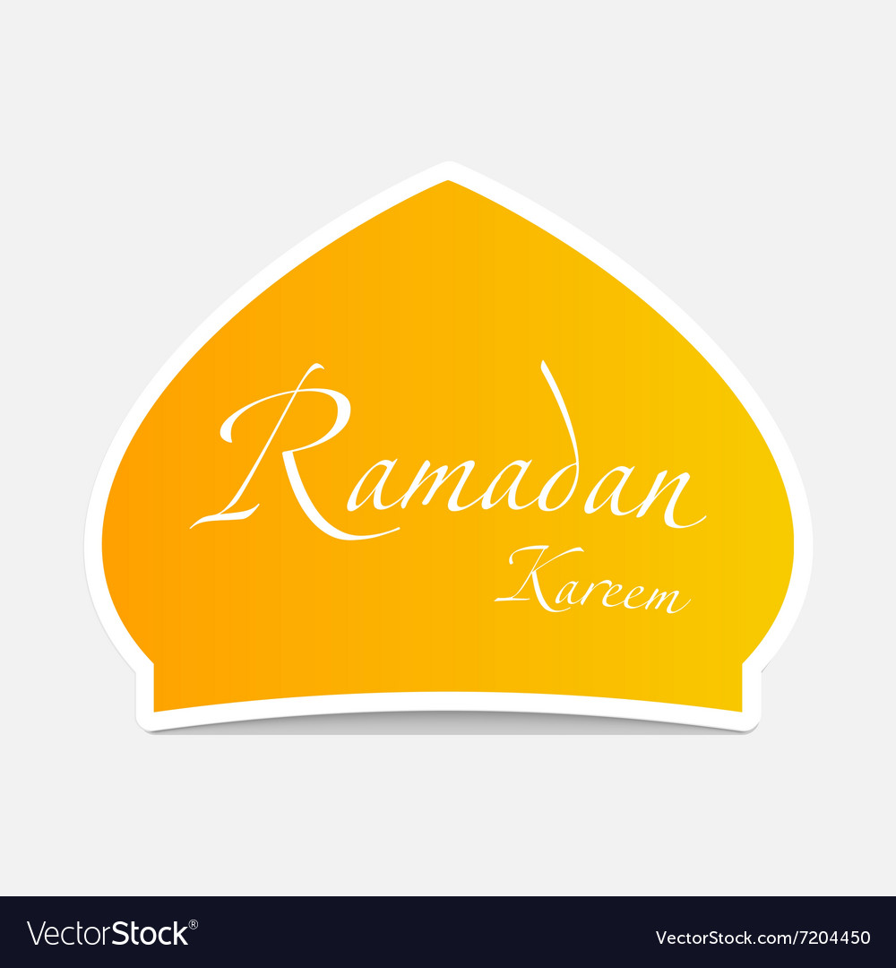 Ramadan sticker design element vector image